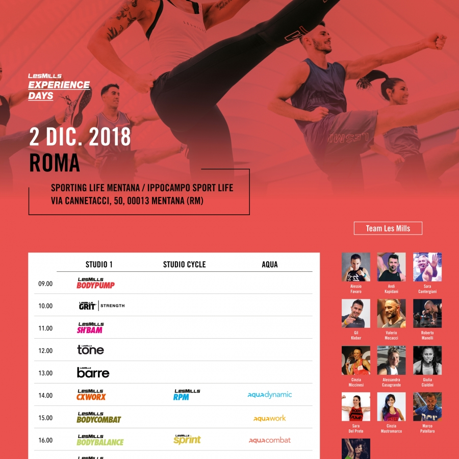 LESMILLS EXPERIENCE DAYS